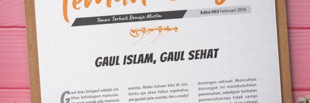 Buletin Teman Surga 003. Gaul Islam Gaul Sehat