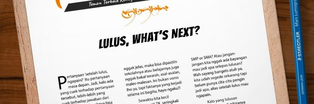 Buletin Teman Surga 011. Lulus, What's Next?