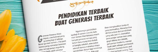 Buletin Teman Surga 012. Pendidikan Terbaik Untuk Generasi terbaik