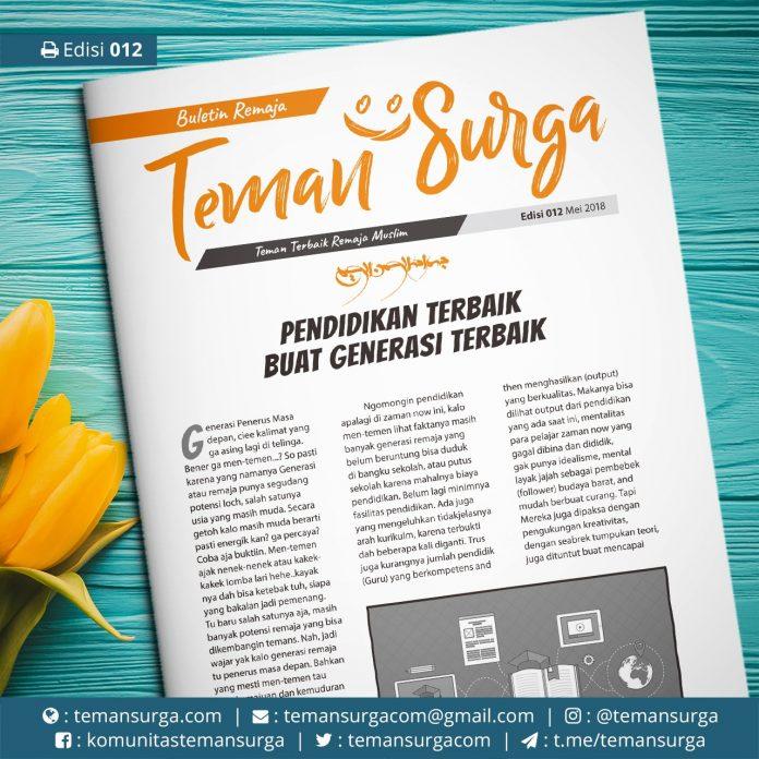 buletin teman surga-012 Pendidikan Terbaik buat Generasi terbaik
