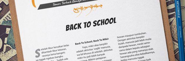 Buletin Teman Surga 019. Back To School