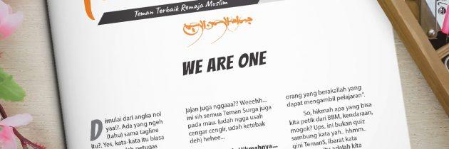 Buletin Teman Surga 026. We Are One