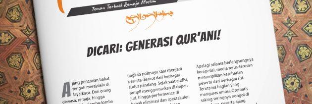 Buletin Teman Surga 038. Dicari: Generasi Qur'ani!