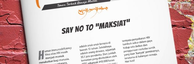 "Buletin Teman Surga 041. Say No to ""Maksiat"""