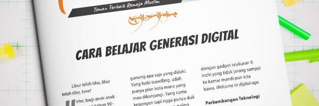 Buletin Teman Surga 069. Cara Belajar Generasi Digital