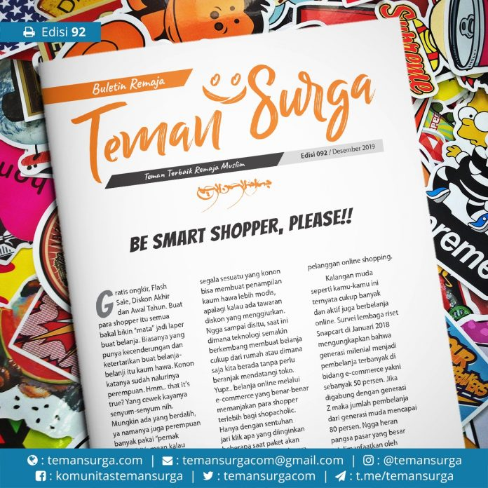 buletin teman surga 092. be smart shopers