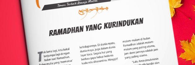 Buletin Teman Surga 109. Ramadhan yang Kurindukan