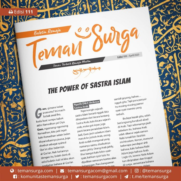 buletin teman surga 111. the power of sastra islam