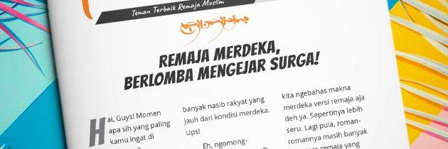 Buletin Teman Surga 126. Remaja Merdeka, Berlomba Mengejar Surga!